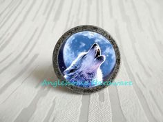 Wolf - Dresser Drawer Pulls Knobs Handles Ring Antique Bronze / Cabinet Knobs Handle Pull Knob Furniture Decorative Knob Hardware by Anglehome on Etsy