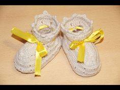 Вязание пинеток крючком шаг 3 - верхняя часть. Crochet knitting bootees Step 3 - top