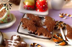 :: Crafty :: Clay ☾☾ Halloween ☾☾ Chocolate Bats