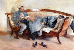 John Singer Sargent: Día lluvioso en Corfú, 1909.