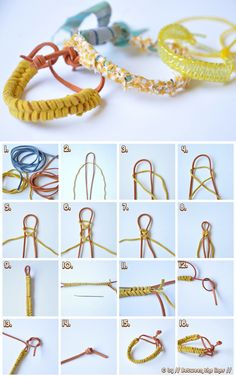 By Between the Lines-topic: Easy to prepare braided bracelets, a few small lacing children, weave bracelet