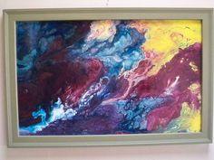 Matthew Reilly original pulled paint