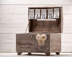 Personalized Card Box with Lock and Key Wedding Card Post Box