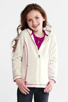 Girls' ThermaCheck®-200 Fleece Hoodie from Lands' End