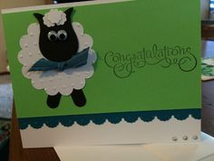 Adorable baby sheep shower card-baby shower or by knitnifty