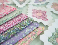 Teeny Tiny Hexagons by Kristyne at Pretty By Hand blogspot