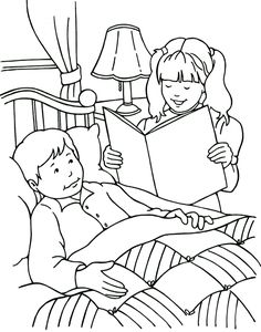 Helping others Sunday Schoo Coloring Page  FromThrutheBible