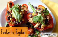 Fajitas The Healthy Way! | via @SparkPeople #diet #nutrition #food #recipe