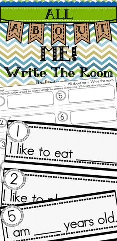 FREE! All about me write the room