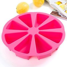 Round Silicone Segment Mouldslicewedgeportion Wheelcakedessertsoap * You can get more details by clicking on the image from Amazon.com