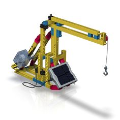 Solar Powered Machines Construction Set. Solar Powered Machines Construction set. This set includes a 1.5V solar panel which drives a variety of Models demonstrating the many different applications of Solar power. The set includes a 20pg book & instructions for 8 models