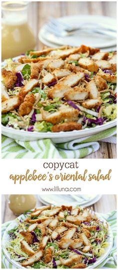 Chicken Salad Copycat version of Applebee's Oriental Chicken Salad - one of the best salad recipes!Copycat version of Applebee's Oriental Chicken Salad - one of the best salad recipes! Best Salad Recipes, Salad Recipes Video, Healthy Recipes, Cake Recipes, Recipes For Salads, Delicious Salad Recipes, Delicious Food, Baking Recipes, Keto Recipes