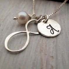Infinity Necklace  Personalized Jewelry  Initial by JLynnCreations, $31.00