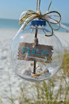 Sand-starfish-shells-and-driftwood-coastal-Christmas-ornament-H2OBungalow