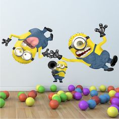 Full Colour Despicable Me Minion Wall sticker Disney Boys Girls Bedroom DecalL Mural Wall Stickers on Etsy, $31.63 AUD