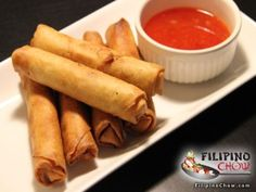 This is Lumpiang Shanghai (Spring Rolls). Lumpiang Shanghai (otherwise known as Spring Rolls in other culinary traditions) is a mainstay of the Filipino party foods. Filipino Recipes, Asian Recipes, Filipino Food, Philippines Food, Carrot And Ginger, Spring Rolls, Appetizers For Party, Shanghai, Food Inspiration