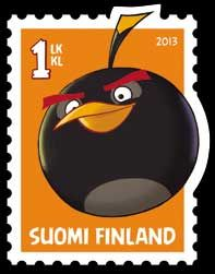 Angry Birds on stamps from Suomi /  Finland More about stamp collecting: http://sammler.com/stamps/