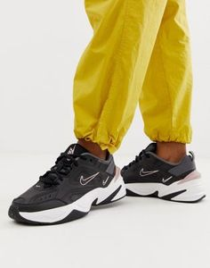 3aa4c3cbcdd Nike M2K Tekno trainers in black and pink