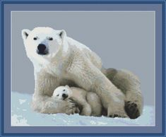 Polar+Bear+with+a+Cub+101111220+lg.jpg (1600×1319)