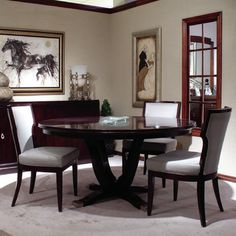 Look What I Found On Wayfair! More Information. More Information. AICO  Oppulente Single Pedestal Dining Table ...