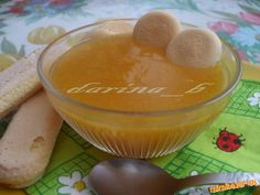 Detská výživa z cukety, pudingu a marhúľ Pudding, Food, Custard Pudding, Essen, Puddings, Meals, Yemek, Avocado Pudding, Eten