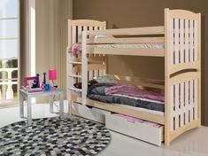 Ye Perfect Choice Serafin Bunk Bed made from Pine Wood Mattress Covers, Bed Mattress, Bunk Bed Curtains, Childrens Bunk Beds, Bunk Beds With Drawers, Wood Joinery, Kiln Dried Wood, Built In Desk, Indoor Air Quality