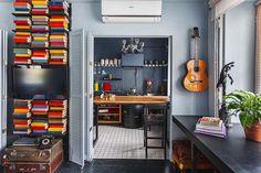 Casinha colorida: Home Tour: Industrial Chic e hipster