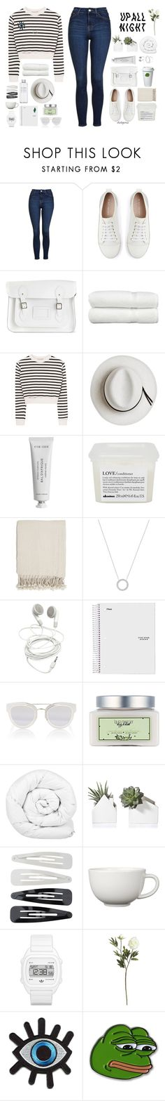 """""""one last time"""" by itstepna ❤ liked on Polyvore featuring Topshop, Mint Velvet, The Cambridge Satchel Company, Linum Home Textiles, Muji, Calypso Private Label, Byredo, Davines, Surya and Michael Kors"""