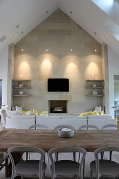 Family Room Accent Wall Design Ideas, Pictures, Remodel, and Decor - page 17