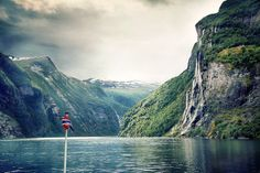 Geirangerfjord, Norway  The two-hour summer ferry ride travels through three fjords – Norddalsfjord, Sunnylvsfjord and Geirangerfjord – all three of which make up a UNESCO World Heritage site. Passengers are treated to views of wispy waterfalls that make 1,219-metre drops, small villages that and battered old farmhouses that sit high and solitary on the fjord ledges.