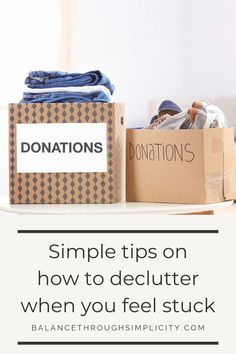 Although it feels like it should be easy, decluttering can be difficult for some. Getting rid of our stuff can be hard work, daunting and bring up mixed emotions that put us off. If you feel like this, check out this post on how to declutter when you feel stuck for 5 simple tips to make decluttering easier. #declutter #declutteringtips #clutterfree #minimalistliving #makelifeeasier #simplelivingtips #home #homeorganization Feeling Stuck, Feeling Overwhelmed, How Are You Feeling, Downsizing Tips, Find Your Why, Take Heart, Declutter Your Life, Mixed Emotions, Hard Part