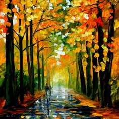 The Rain Is Gone — PALETTE KNIFE Oil Painting On Canvas By Leonid Afremov #art #painting #fineart #canvas