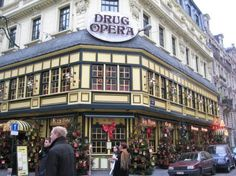 Brussels · Oddly named cafe but lovely christmas decorations