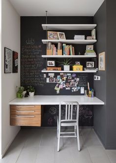 Alcove – contemporary – Home Office – Ottawa – John Donkin Architect Inc. – desk… – Home office design layout Office Nook, Home Office Space, Home Office Design, Home Office Decor, House Design, Office Ideas, Desk Ideas, Desk Nook, Office Designs