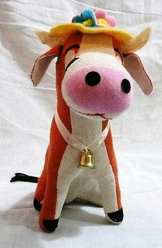 Dakin Applause Dream Pets Clarabelle Cow Suede Letaher Plush Collectible Toy