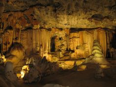The caves in Budapest, Hungary.