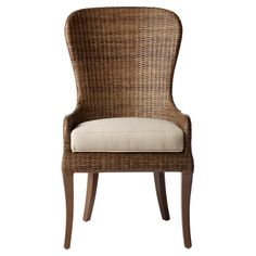 shaped wicker chair
