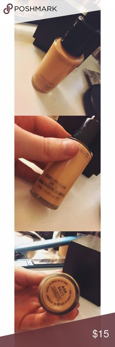 Mac Studio Fix fluid foundation Mac Studio fix foundation in color NW15. SPF 15.still has a lot of foundation in the bottle, only used a few times, I have a red under tone and this is to yellow! MAC Cosmetics Makeup Foundation