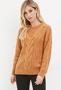 Classic Cable Knit Sweater | Forever 21 - 2000145793