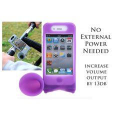 iPhone 4 & 4S Holder & Loudspeaker (Horn) For Bike $35.38