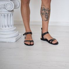 Men Flip Flops, Handmade Sandals, Black Sandals, Men Sandals, Summer Sandals, Beach Sandals, Genuine Leather, Greek Sandals  Handmade sandals, Flip Flops, Men, Sandals, Sparta Sandals, 100% High Quality Genuine Leather. Classic and stylish, handmade sandals in a vast variety of colors, will complement your outfit for casual appeal.It characterize them the natural leather insole, leather outer sole and leather upper, making it the ideal sandal for hot summer days. You will feel your feet…