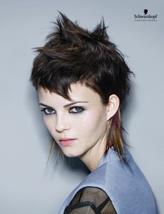 Electric Youth (Short). Essential Looks Spring-Summer 2013. Schwarzkopf Professional.