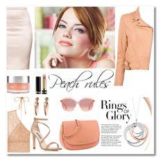 """Peach rules"" by aniadratwicka on Polyvore featuring STELLA McCARTNEY, SJP, Gucci, Tiffany & Co., Sea, New York, Sara Happ and peachlipstick"
