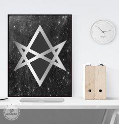 Unicursal Hexagram Digital Download Print  Magick Witchcraft