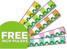 free measuring booklet and rulers for Kindergarten - K.MD.1, K.MD.2 - KindergartenWorks