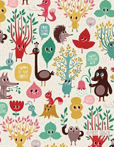 Helen Dardik - orange you lucky!: trees & creatures & leaves . . . oh my!