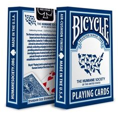 Bicycle Humane Society Playing Cards Need these Bicycle Cart, Bicycle Deck, Bicycle Playing Cards, Creative Cards, Humane Society, Decks, Design, Letters, Front Porches