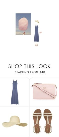 """n.104 Dolce Vita i: Summer Fair"" by igzfw ❤ liked on Polyvore featuring Cotton Candy, Kate Spade and Topshop"