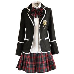 Nuotuo Women's High school British style uniforms Japanese class... ($46) ❤ liked on Polyvore