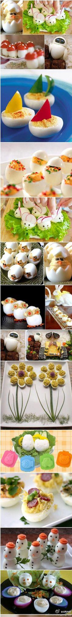 Lustige Eier zum ESSEN